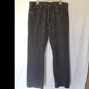 Levi's 501 Black Button On The Fly Jean's 38x32